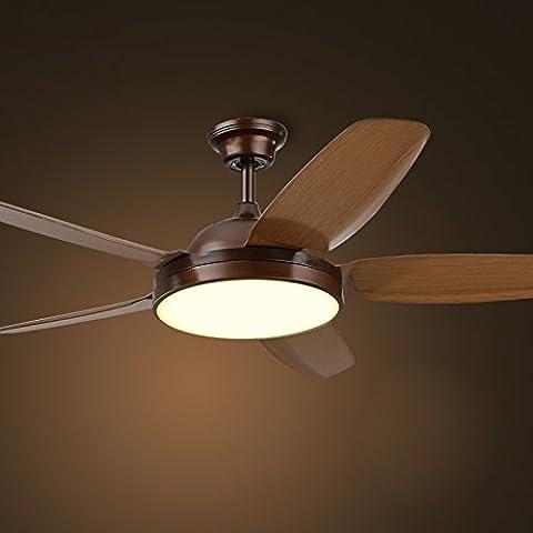 Ventilador de techo Industrial Americana lámpara Led luminoso comedor ventilador sencillo estilo