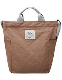 Gindoly Casual Handtasche Damen Canvas Chic Schultertasche Damen Henkeltasche Schulrucksack Große umhängetasche Tasche EINWEG