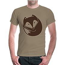 buXsbaum® Herren Unisex Kurzarm T-Shirt Fuchs V2 | Wildtiere Natur Wald