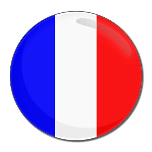 France Flag - Miroir compact rond de 55 mm