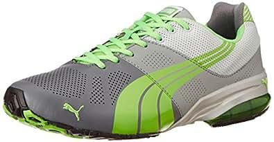Puma Men's Cell hiro DP StGrey-Li Grey-Fluo Green Running Shoes - 10UK/India (44.5EU)
