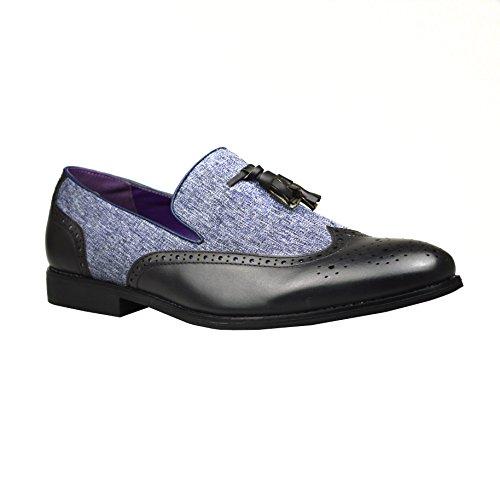 Robelli Zapatos para hombre, estilo elegante, piel, color marrón, talla 41 EU