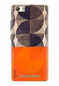 Noise Designer Printed Case / Cover for Gionee Marathon M5 lite / Patterns & Ethnic / Surface Orange Design