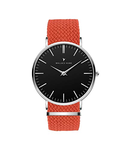 Orange Full Royal Perlon Watch Black Wallace Hume Strap W9E2DHI