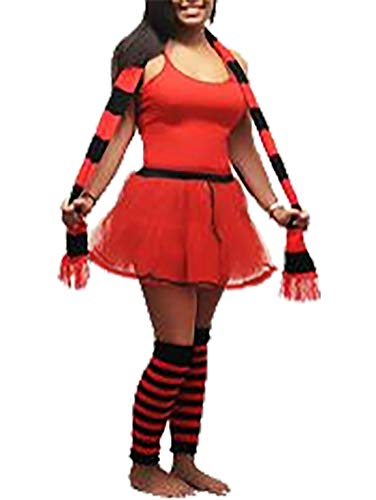 Islander Fashions Damen Halloween Red Devil Stag Tun Kost�m Womens Fancy Party Complete Outfit EU 44