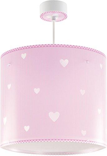 Dalber 62012S Sweet Dreams, Lámpara colgante Corazones rosa, E27, Clase de eficiencia energética A++ a C