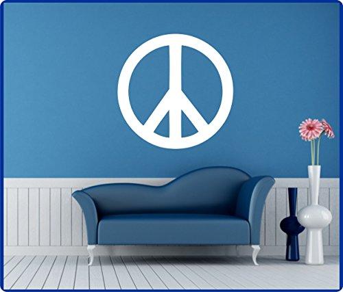 Wandtattoo Peace Zeichen Wandaufkleber spiritueller Aufkleber Friedenssymbol 60cm in 33 Farben matt oder glänzend