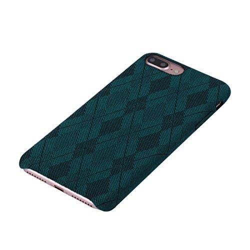 iPhone Case Cover Pour iPhone 7 Plus Diamond Trépied motif TPU étui de protection arrière ( Color : Yellow ) Green