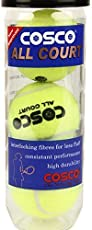 Original COSCO ALL COURT LAWN TENNIS BALL - PACK OF 3 (yellow).