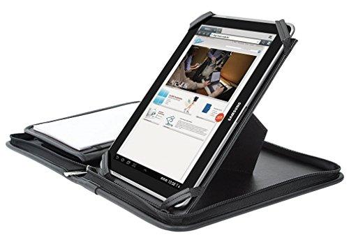 Wedo 585911 Organizer Elegance Tagungsmappe (A5 für Apple iPad und Tablet PC, inkl. Schreibblock) schwarz