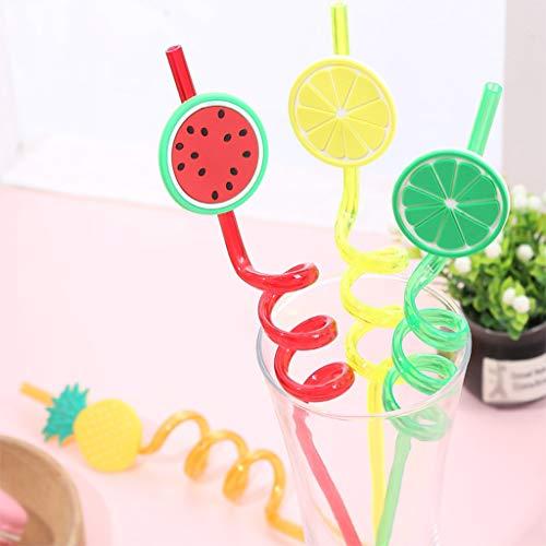 Mitlfuny -> Haus & Garten -> Küche,4PCS Wiederverwendbare Strohhalme Smoothie Trinkhalme für Milchshakes Gefrorene ()