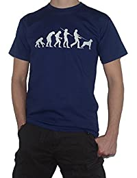 Evolution Rottweiler T-Shirt - Funny Tee - Ape to Man / Dog Owner Walker by My Cup Of Tee