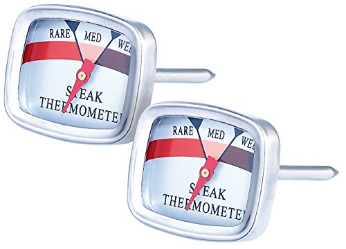 Rosenstein & Söhne Steakthermometer: 2er-Set Steak-Thermometer (Fleisch Thermometer für Küche)