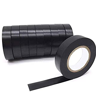 Maveek 10 Rolls Insulation Tape Electrical PVC Waterproof Tape Black 60 Feet