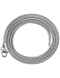 Imported Fashion Mens Silver 3mm Stainless Steel Chain Necklace Cool Gift