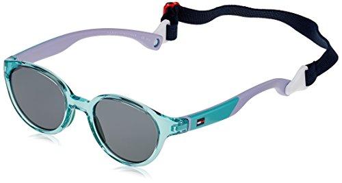 Tommy Hilfiger Unisex-Kinder TH 1424/S BN Y88 43 Sonnenbrille, Grün (Green Lilac/Grey)