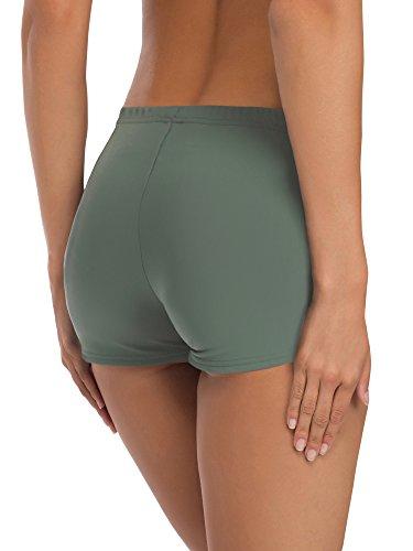 Merry Style Damen Badeshorts Bikinihose Modell L23L1 Grün (70060)