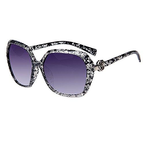 LianSan Mode überdimensional Jahrgang Blume Frauen Sonnenbrille Damen Voll Rahmen Sonnenbrille...