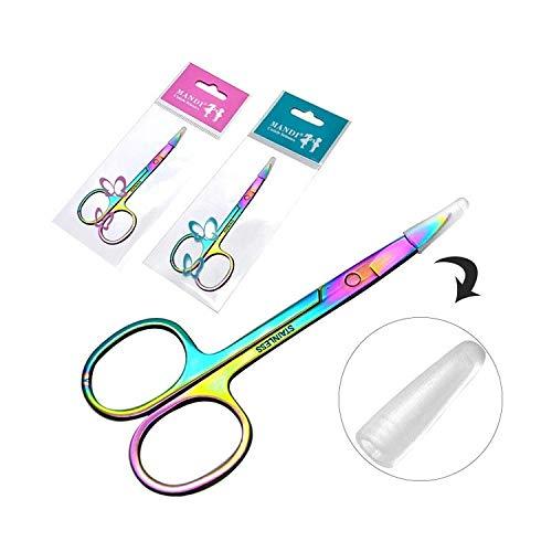 EEvER Umweltfreundliches Make-Up-Tool Augenbraue Schere Trimmer Grooming Schere für Augenbraue Shaping Ohr Nase Nasenloch Haar und Schnurrbart Trimmen -