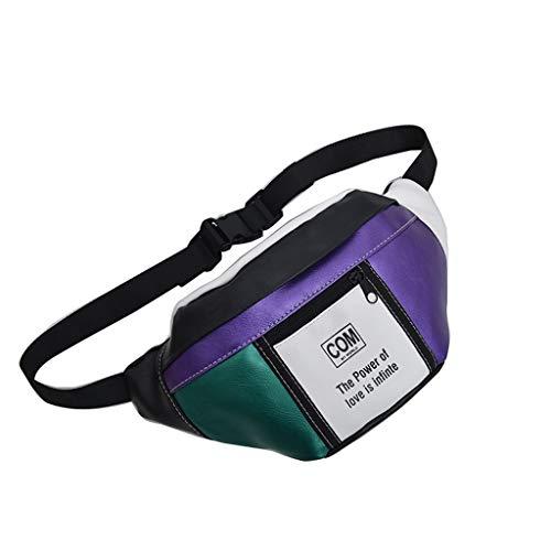 Bauchtasche mit Farbe Patchwork Damen Retro Trachtentaschen Clutch Gürteltasche Hüfttasche Tailletasche Waist Bag Sling Umhängetasche Dirndl Klatsch Tasche Brusttasche Bumbag für Mädchen