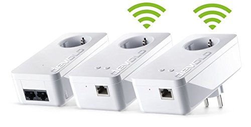 Devolo 8309 - Multiroom dLAN 550 WiFi - Powerline, Internet por Linea de Corriente, Extensor, Repeater, de Enchufe, 500 Mbps