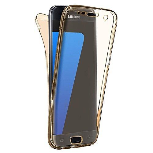 Preisvergleich Produktbild N4U Online - Ganzkörper (Rückseite & Vorderseite) TPU Gel Schützend Durchsichtig Hülle Cover Für Samsung Galaxy A5 (2017) - Verschiedene Farben - Gold