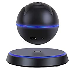 Milool Schweben drahtlose Bluetooth 4.0 Lautsprecher Levitating Bluetooth Wireless Speaker für Smartphones, Tablets, Laptops, PC und alle Bluetooth-Geräte mit 360 Grad drehbaren(Schwarz)