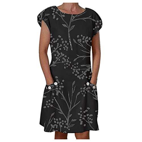 KANGMOON Kurzarm Boho Sommer Kleider,Sexy Kleid -