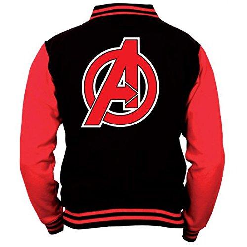 Avengers Baseball Varsity Giubbotto Jacket Logo Size L CODI