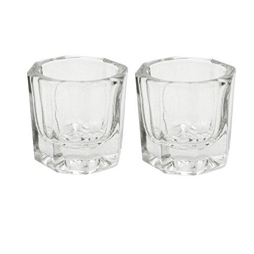 akoak 2Nail Art Acryl Liquid Puder Dappenglas Glas Becher Crystal Glaswaren Werkzeug