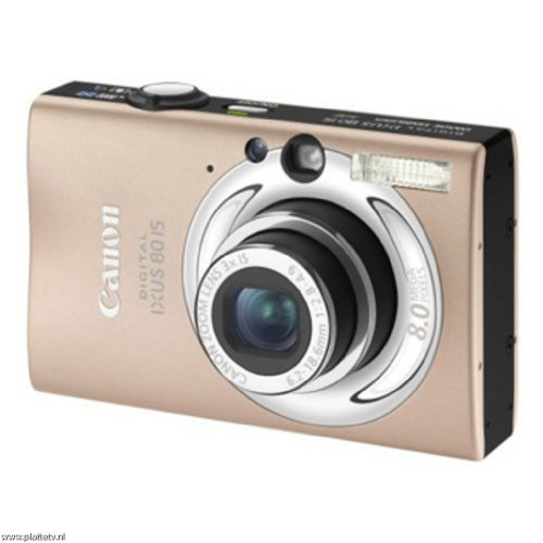 "Canon Digital IXUS 80 IS Digitalkamera (8 Megapixel, 3-fach opt. Zoom, 2,5"" Display, Bildstabilisator) caramel"
