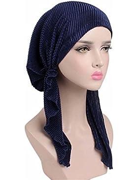 EINSKEY Turbantes para Mujer, Elegante Panuelos Cancer Mujer Liso, Pañuelos Cabeza Mujer Suave para Oncologicos...