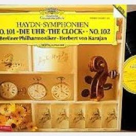 Joseph Haydn - Herbert Von Karajan , Berliner Philharmoniker - Symphonien Nº 101 Die Uhr / Nº 102 - Deutsche Grammophon - 410 868-1