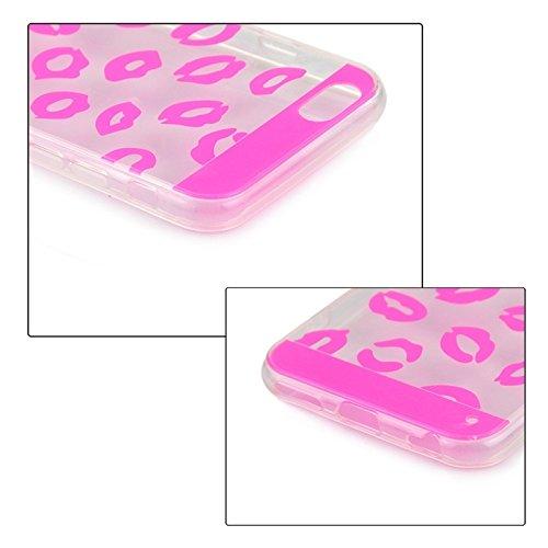 Phone case & Hülle Für IPhone 6 / 6S, Ultrathin Sexy Lippen Muster TPU Schutzhülle ( Color : Black ) Magenta