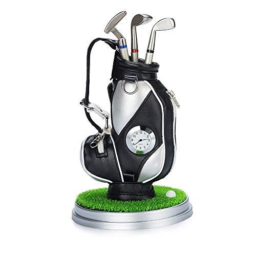 Funktionelle Golfübungsgeräte Halter Geschenk Mit Uhr Mini Desktop Golf Souvenir Set Briefpapier Geschenk Für Golf Enthusiasten Golf Stifthalter multifunktions Stift ( Farbe : C2 , Größe : Free ) - Uhr Halter Stift