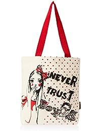 Kanvas Katha Women's Fashion Tote Bag (Ecru) (KKNB020)