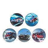 Ergobag Accessoires Klettbilder-Set 5-tlg Kletties Feuerwehr Feuerwehr