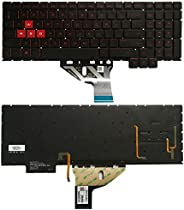 Laptop Keyboard Replacement US Version Keyboard with Keyboard Backlight for HP Omen 15-CE 15-CE000 15-CE026TX