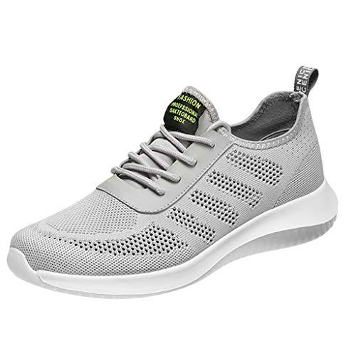 Jimmackey- Scarpe Running Uomo Sneakers Uomo Sport Scarpe da Ginnastica Fitness Respirabile Mesh Corsa Leggero Casual all'Aperto