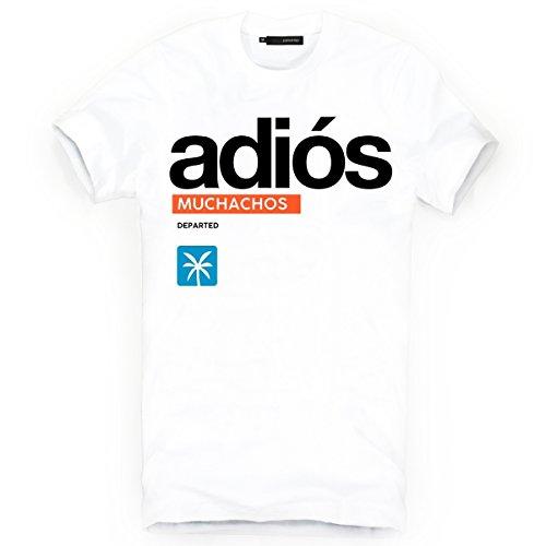 DEPARTED Herren T-Shirt mit Print/Motiv 4180-020 - New fit Größe S, White -