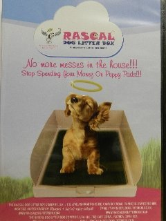 DOG LITTER BOX(TRAINING / PUPPY PAD HOLDER) BY THE RASCAL DOG LITTER BOX COMPANY. AS SEEN ON DRAGON'S DEN.NEXT DAY DELIVERY 4