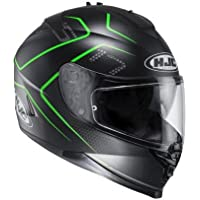 Casco de moto HJC IS-17 Lank MC40SF, color verde, tamaño L