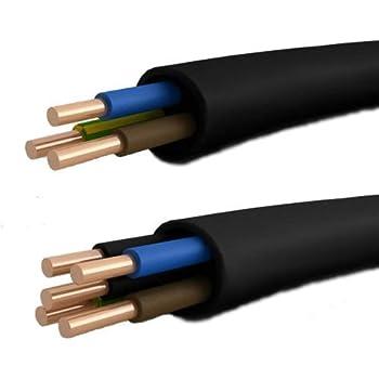 Ring Erdkabel schwarz Installationsleitung Elektrokabel NYY-J 5x1,5mm² 100m 90m