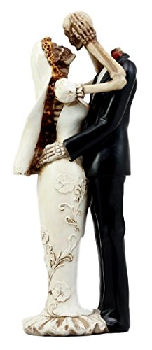 er Toten Eternal Hochzeit Skelett Braut und Bräutigam Figur Lovers 28,6 cm H True Love Never Stirbt Collection ()