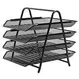 #5: Abaj 4 Tier Mesh Document/Paper Tray, Desk Organizer (Black)