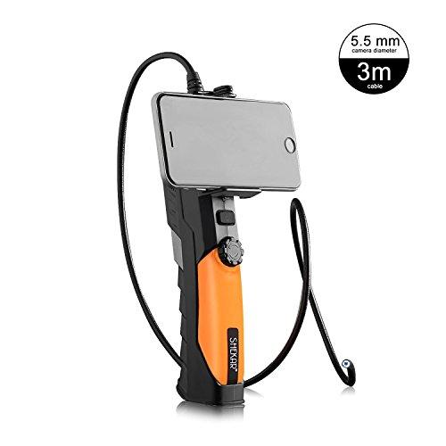 SHEKAR [Schlankes 5,5mm] 720P HD WiFi Endoskop Kabelloses Boreskop Endoskopkamera Wasserdichte Inspektionskamera mit 3M Robustem Kabel für iOS iPhone/iPad / MAC/Android / PC/Laptop