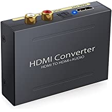 ESYNiC Audio Divisor de HDMI a HDMI SPDIF Óptico RCA Toslink Adaptador Splitter de Video HDMI - DAC HD Digital a Audio R/ L Estéreo Estractor para Apple TV Blu-Ray DVD Player Xbox One SKY HD box PS3