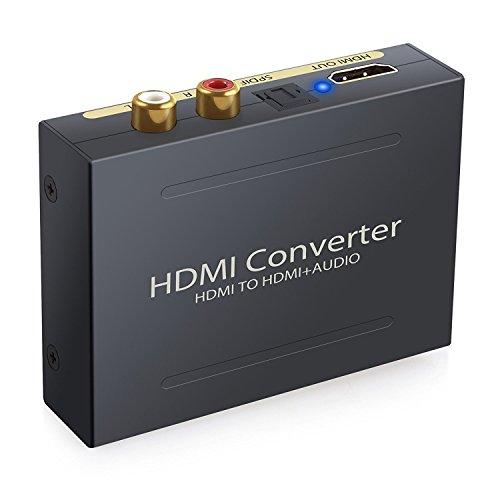 ESYNiC Audio Divisor de HDMI a HDMI SPDIF Óptico RCA Toslink Adaptador...