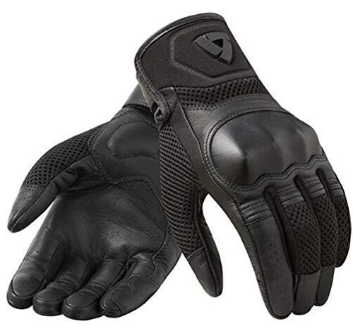 Guanti moto da bici da uomo, Guanti da moto in pelle sudi impermeabili Guanti da fuoristrada da corsa XXL 18-25cm