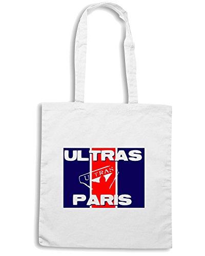 T-Shirtshock - Borsa Shopping TUM0058 ultras paris Bianco